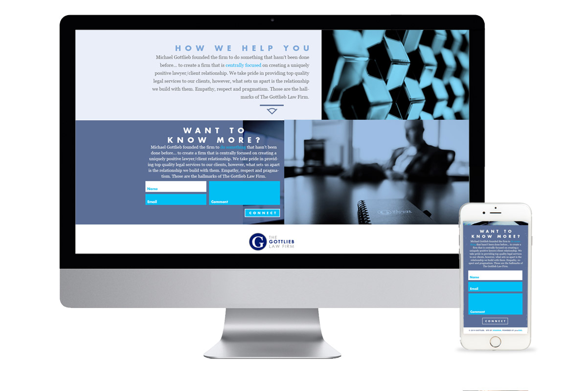 The Gottlieb Law Firm responsive website design