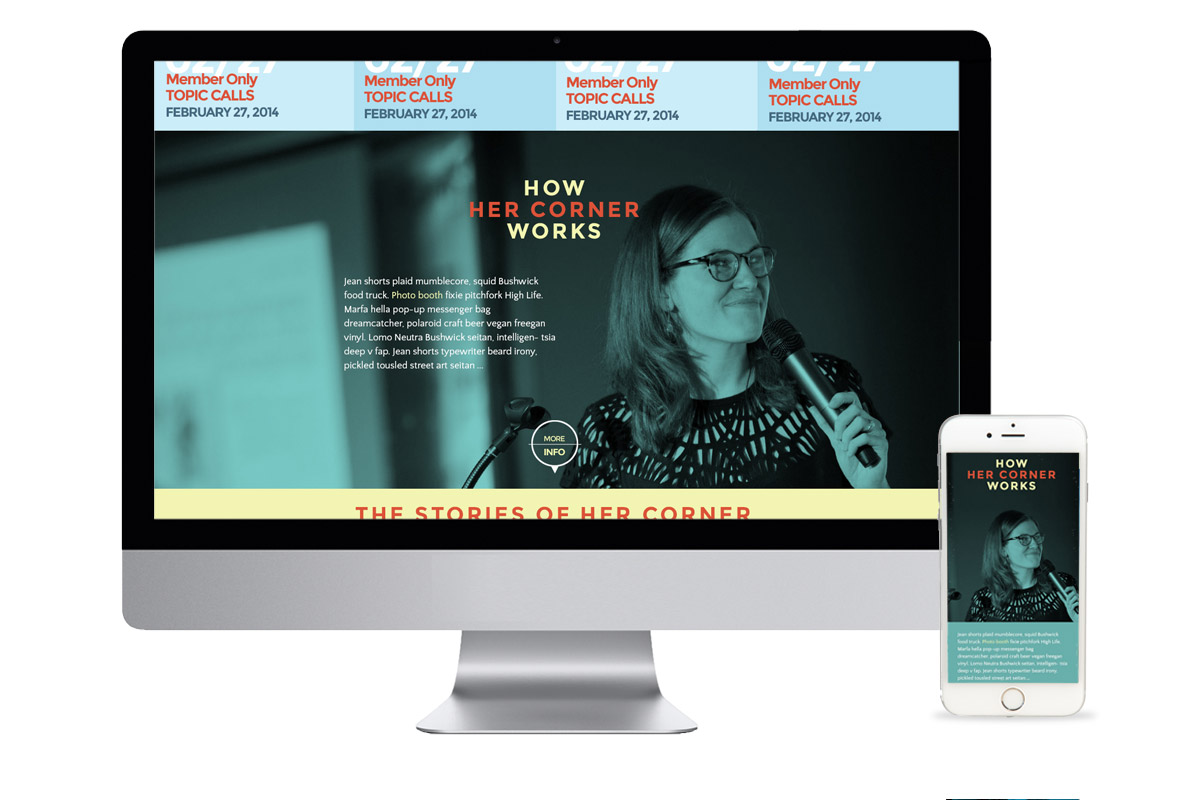 Her Corner responsive website redesign