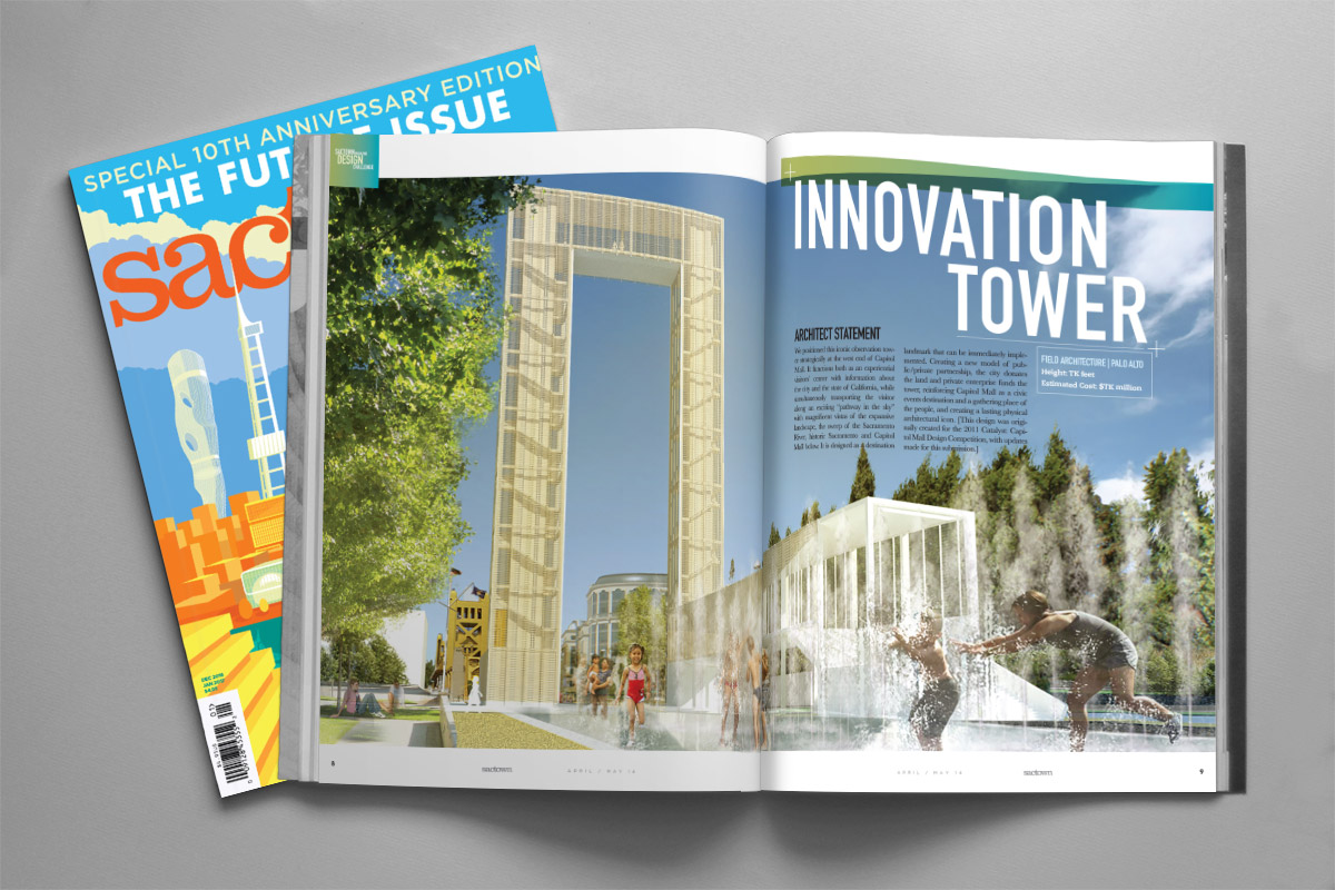 Sactown Magazine's Top of the Town layout - December/January 2017
