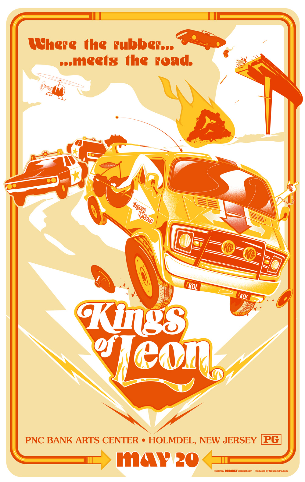 KOL-Kings of Leon Gigposter 2017 - New Jersey